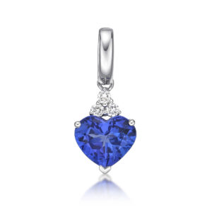 Deep Blue 2.72 Carat Tanzanite Heart Shaped Pendant