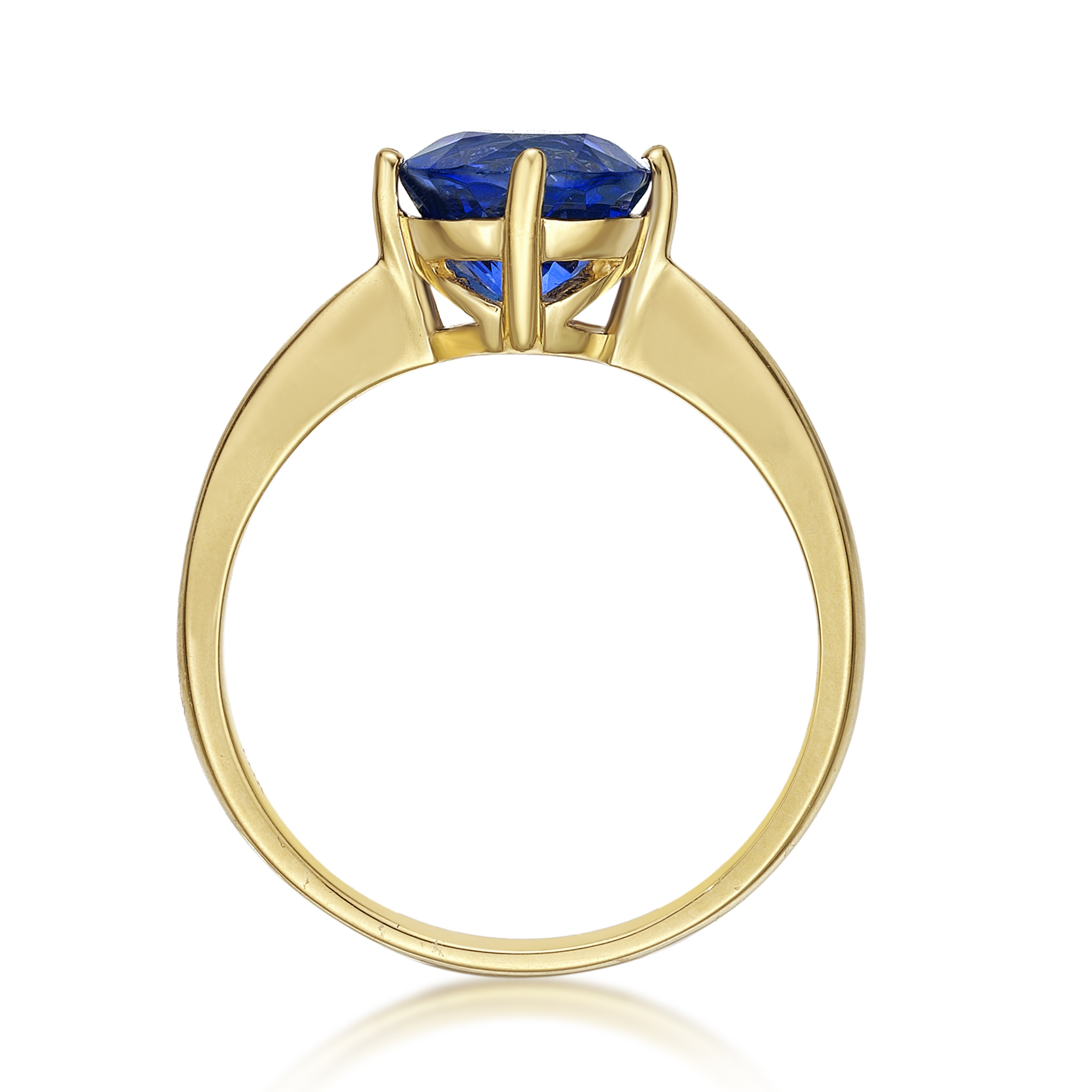 Tanzanite Round Solitaire Ring - Deep Blue
