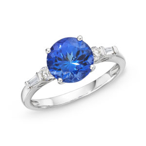 3.34 Ct Tiffany Tanzanite & Diamond Ring